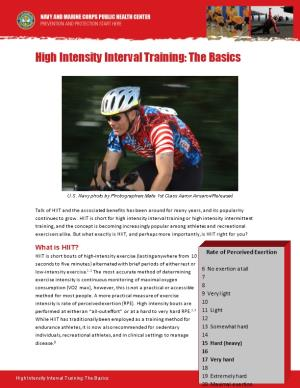 High Intensity Interval Training: the Basics