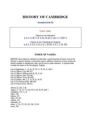 History of Cambridge