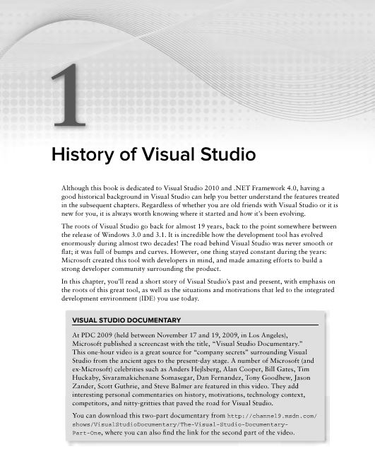 History of Visual Studio
