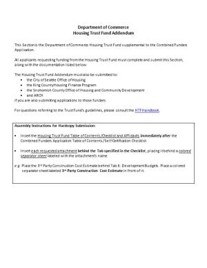 Housing Trust Fund Addendum