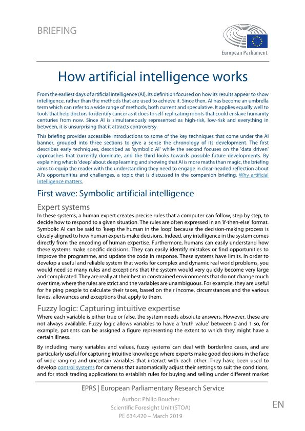 How Artificial Intelligence Works