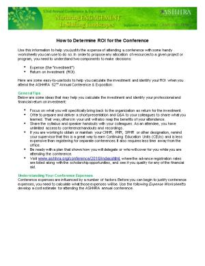 How to Determine ROI for the Conference
