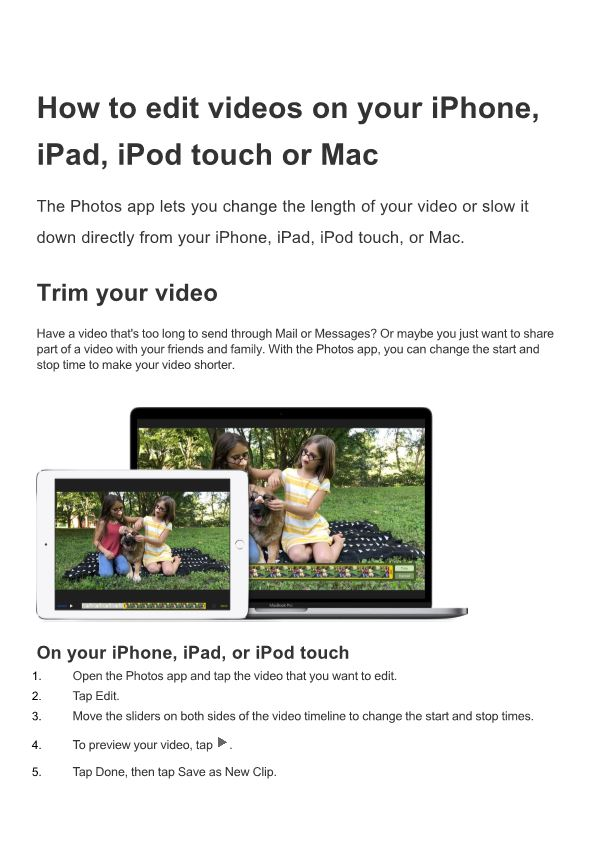 How to Edit Videos on Your Iphone, Ipad, Ipod Touch Or Mac
