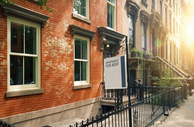 Elegant brownstones and townhouses in the Fort Greene area of Brooklyn New York City