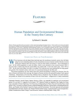 Human Population and Environmental Stresses in the Twenty-First Century