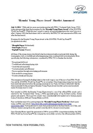 Hyundai Young Player Award Shortlist Announced