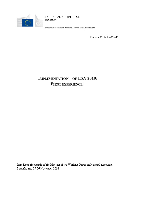 Implementation of ESA 2010: First Experience