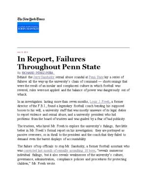 In Report, Failures Throughout Penn State