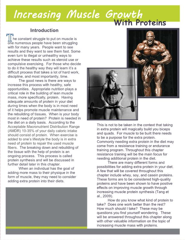 Increasing Muscle Growth with Proteins
