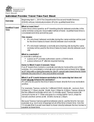 Individual Provider Travel Time Fact Sheet