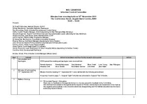 Infection Control Committee Meeting Minutes Nov 2011