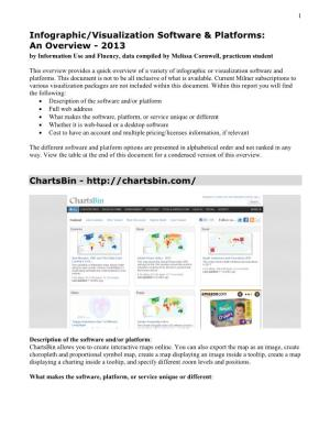 Infographic/Visualization Software & Platforms: an Overview - 2013