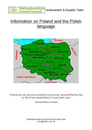 Information on Poland and the Polish Language