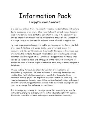 Information Pack Happypersonal Assistant