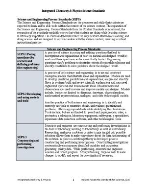 Integrated Chemistry & Physics Science Standards