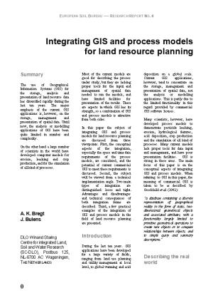 Integrating GIS and Process Models for Land Resource Planning