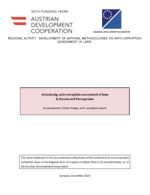 Introducing Anti-Corruption Assessment of Laws