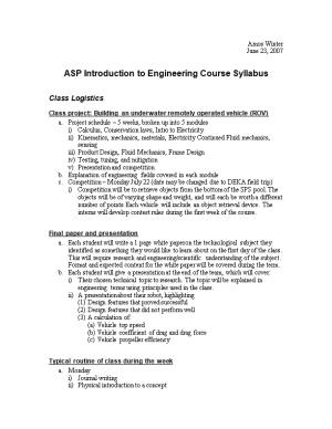 Introduction to Engineering (IE) Will Address the Following Fields of Engineering: Mechanical