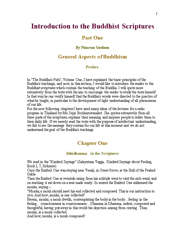 Introduction to the Buddhist Scriptures