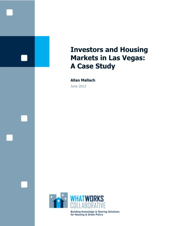 Investors and Housing Markets in Las Vegas: A Case Study