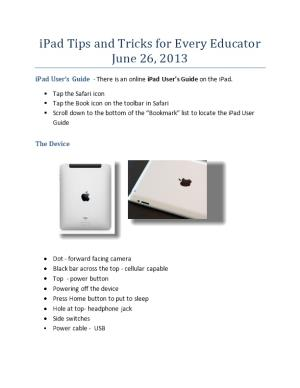 Ipad Tips and Tricks for Every Educator