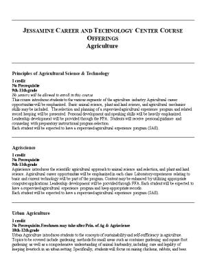 Jessamine Career and Technology Center Course Offerings