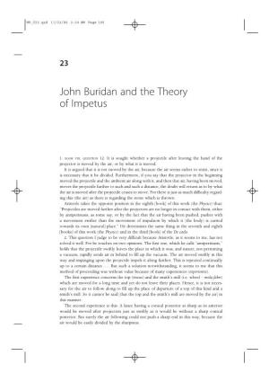 John Buridan and the Theory of Impetus