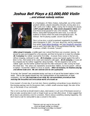 Joshua Bell Plays a $3,000,000 Violin