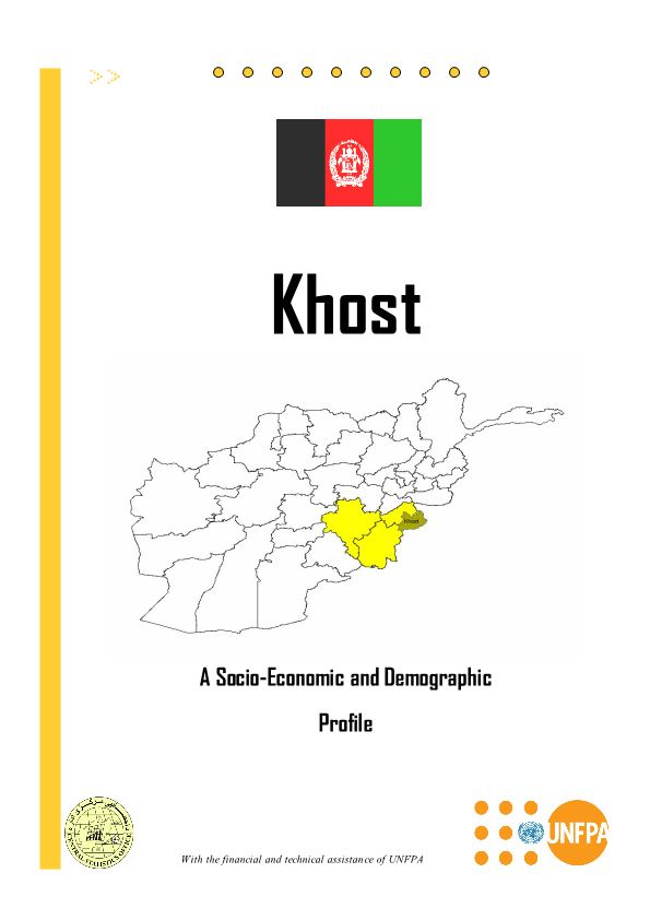 Khost a Socio-Economic and Demographic Profile