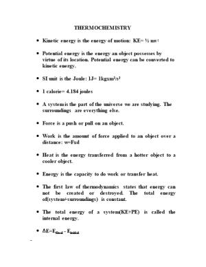Kinetic Energy Is the Energy of Motion: KE= Mv2