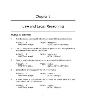 Law and Legal Reasoning