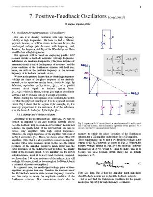 Lecture 11: Introduction to Electronic Analog Circuits 361-1-3661