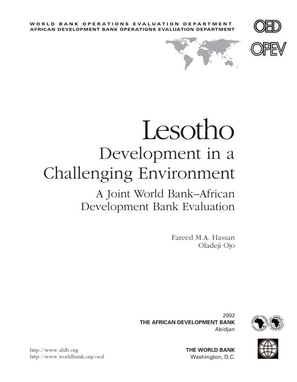 Lesotho Development in a Challenging Environment
