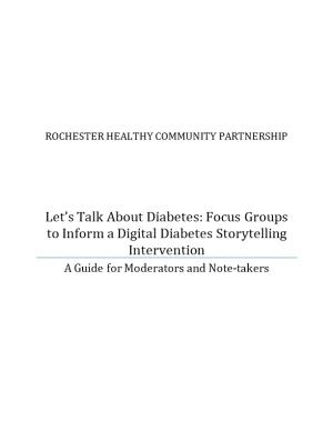 Let S Talk About Diabetes: Focus Groups to Inform a Digital Diabetes Storytelling Intervention