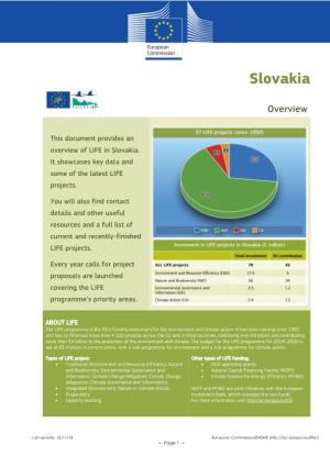 Life Country Overview Slovakia