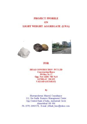 Light Weight Aggregate (Lwa)