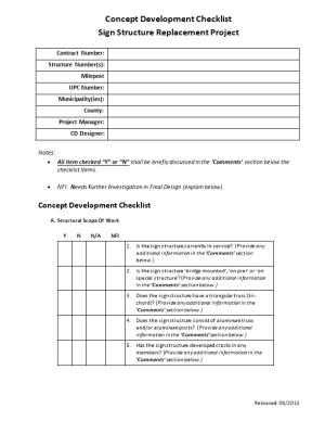 Limited Scope Sign Structure Checklist