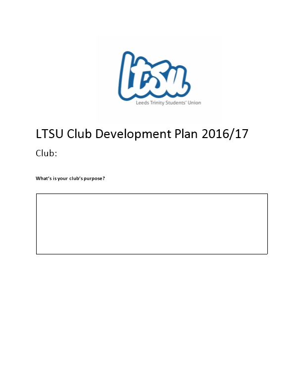LTSU Club Development Plan 2016/17