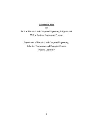 M.S. in Electrical and Computer Engineering Program, And