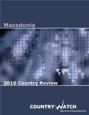 Macedonia 2016 Country Review