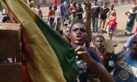 MDG Tuareg in Mali Protester angry about the government s handling of attacks by Tuareg rebels