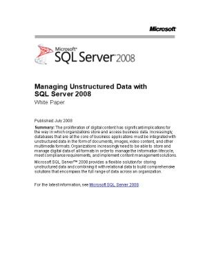Managing Unstructured Data with SQL Server 2008