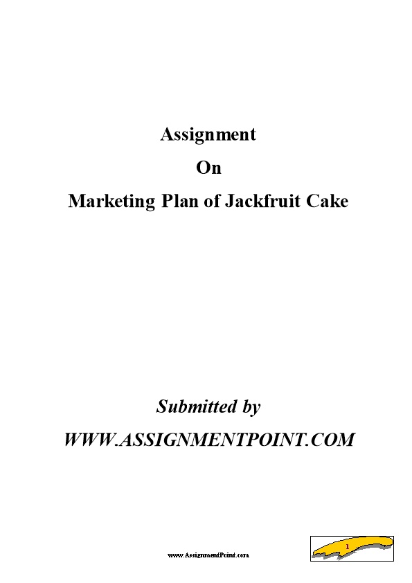 Marketing Plan of Jackfruit Cake