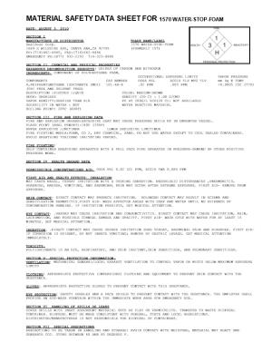 Material Safety Data Sheet for Webac 151