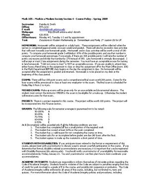 Math 129-3 Calculus II - Course Policy - Summer, 2003