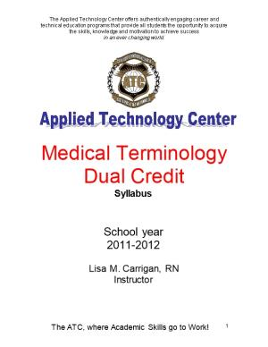 Medical Terminology Dual Credit