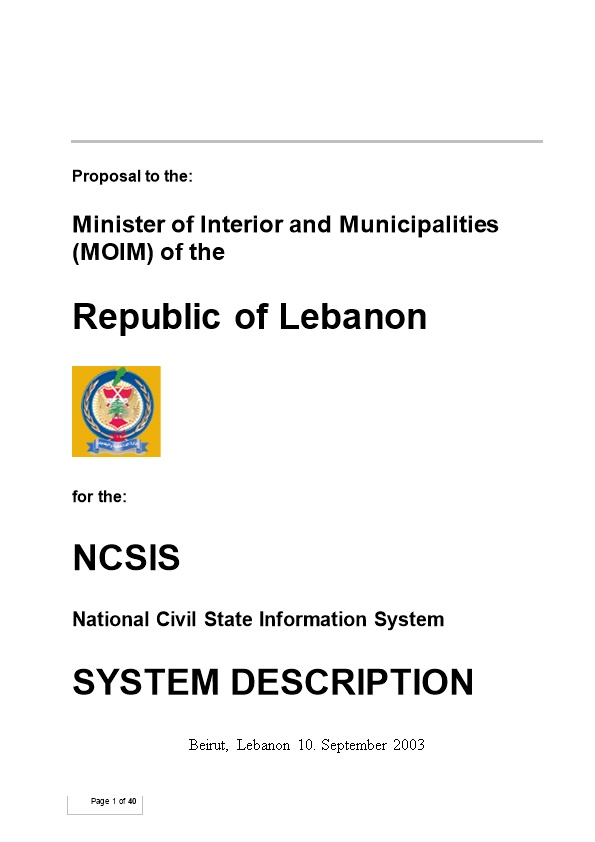 Minister of Interior and Municipalities (MOIM) of The