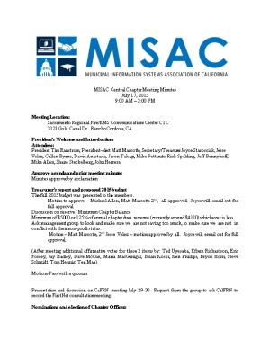 MISAC Central Chapter Meeting Minutes