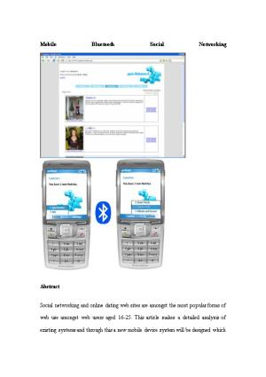 Mobile Bluetooth Social Networking