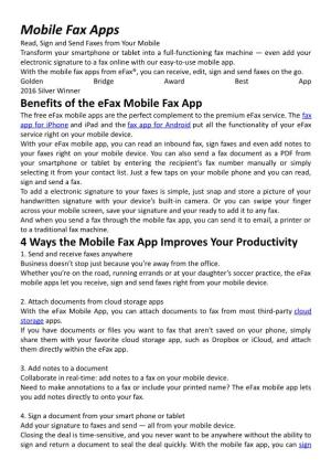 Mobile Fax Apps